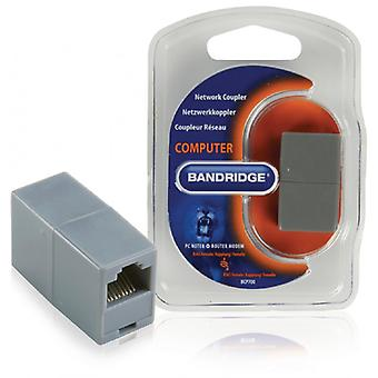 Bandridge CAT5 Network Adapter RJ45 (8P8C) Female-RJ45 (8P8C) Female Grey