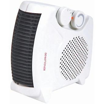 Portable 2kW Upright Flat Fan Heater Electric 2 Heat Settings 1000W/2000W