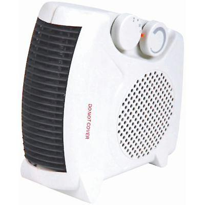 Portable 2kW Upright Flat Fan Heater Electric 2 Heat Settings 1000W/2000W