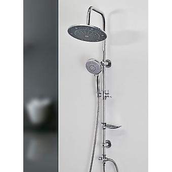 Exposed Bathroom Mixer Shower Rain Pole Valve Tap Multifunction Set