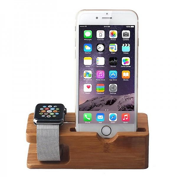 Bamboo charger for Apple Watch clock 38mm / 42mm Mount Dock docking station