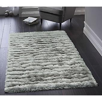 Carved Glamour Silver  Rectangle Rugs Plain/Nearly Plain Rugs