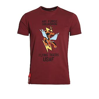 ALPHA INDUSTRIES Flying Tiger T-Shirt Burgundy
