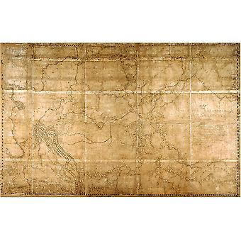 1814 Thompson Map Poster Print Giclee