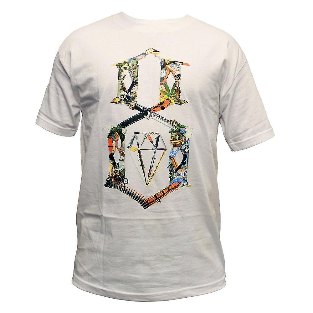 Rebel8 Logo Collage T-shirt White