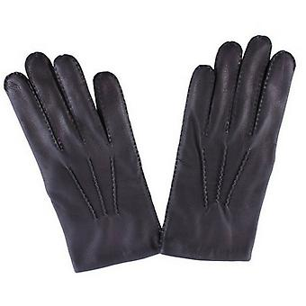 Dents Deerskin Leather Gloves - Black