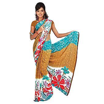 Bhavani Georgette gedruckt Casual Sari Sari Bauchtanz Stoff