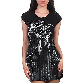 Fantasmogoria BLACK ANGEL - Tunic T- Dress - Dress
