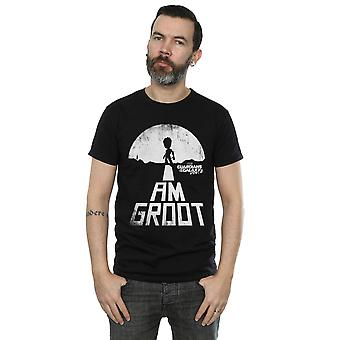 Marvel Men's Guardians Of The Galaxy I Am Groot White T-Shirt