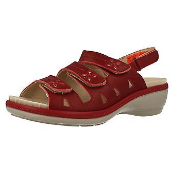 Ladies Easy B Peep Toe Sandals Penny