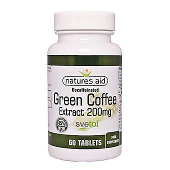 Natures Aid Decaffeinated Green Coffee Extract 200 mg 60 tabs
