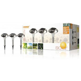 Ranex LED Solar Garden light-3 Leds 3