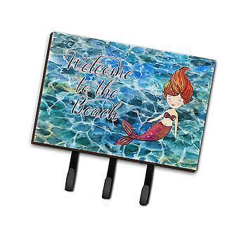 Carolines skarby BB8521TH68 Mermaid wody powitalny smycz lub breloczek