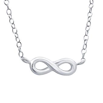 Infinity - 925 Sterling Silver Plain Necklaces
