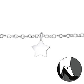 Star - 925 Sterling Silver Anklets - W27636x