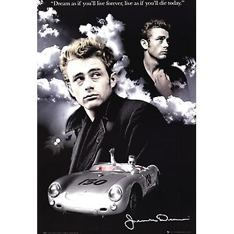 James Dean - Clouds Poster Poster Print