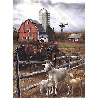 The Old Tractor Poster Print by Ed Wargo (12 x 16)