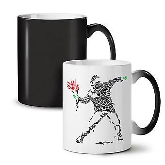 Human Flower Art Fantasy NEW Black Colour Changing Tea Coffee Ceramic Mug 11 oz | Wellcoda