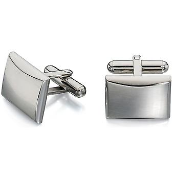 Stainless Steel Brush And Polish Fashionable Cufflink