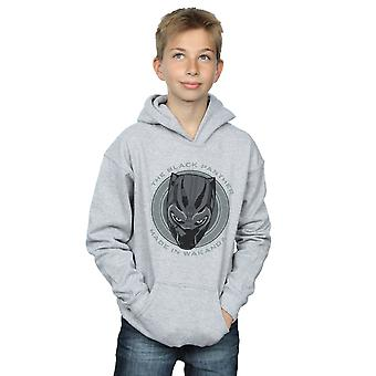 Marvel Boys Black Panther Made in Wakanda Hoodie