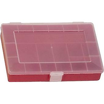 Assortment box (L x W x H) 250 x 180 x 45 mm Alutec No. of compartments: 8 fixed compartments