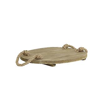 Light & Living Tray Ø45 Cm GRUYERE Wood Natural With Rope