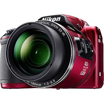 Digital camera Nikon Coolpix B-500 16 MPix Optical zoom: 40 x Red Full HD Video, Flip screen, Bluetooth