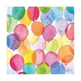 Ambiente 3 Ply Paper Napkins, Aquarell Balloons