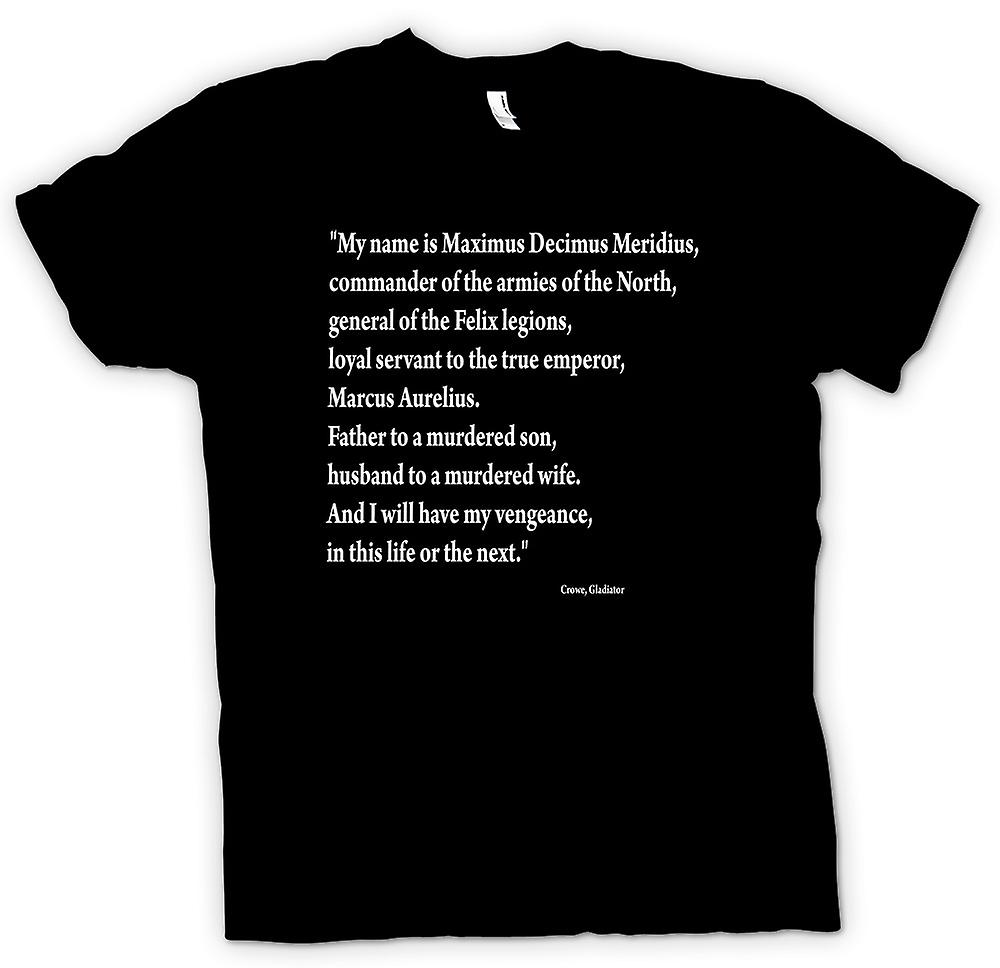Kids T-shirt - Gladiator - Quote - Russell Crowe