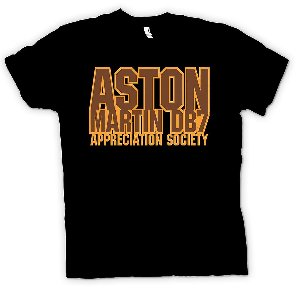 Mens t-shirt-Aston Martin DB7 Appreciation Society