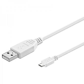 3m USB 2.0 data and charging cable white for all Smartphone and Tablet micro USB