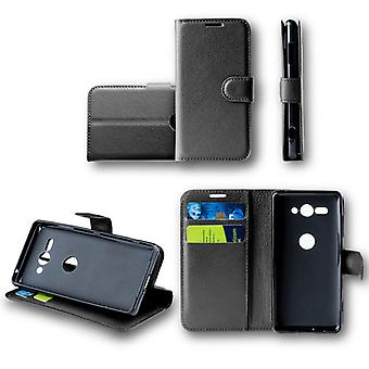 For Huawei Y6 2018Tasche wallet premium black protective sleeve case cover pouch new accessories