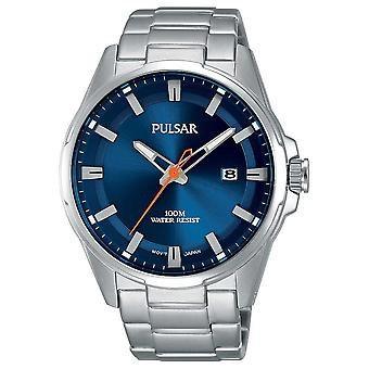 Pulsar Gents Stainless Steel Blue Face PS9505X1 Watch