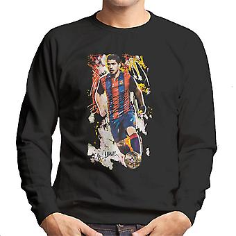 Sidney Maurer Original Portrait Of Luis Suarez Barcelona Men's Sweatshirt