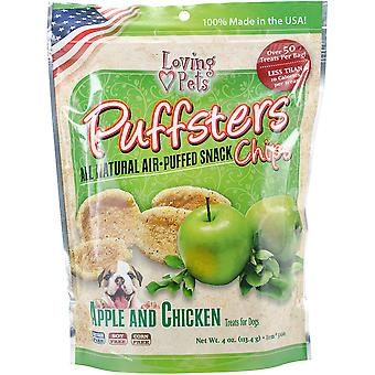 Puffsters Treat Chips 4oz-Apple & Chicken