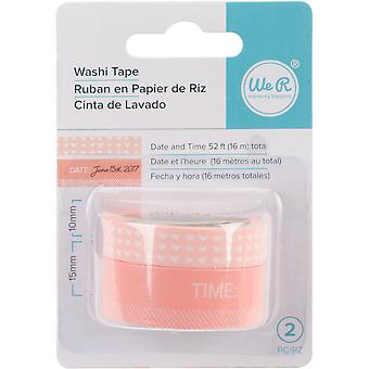 We R Chomper Washi Tape 2/Pkg-Day & Time-Coral