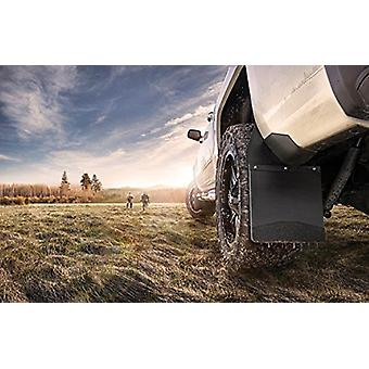 Husky Liners Kick Back Mud Flaps 12IN Wide - SS Top/Wt Fits Silv/F150/Ram