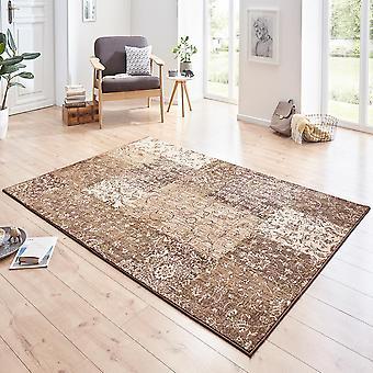 Designer velour carpet Kirie Brown pink