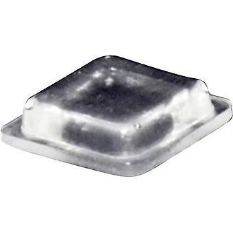 TOOLCRAFT PD2100C pied auto-adhésif, carré Transparent (L x l x H) 10 x 10 x 2,5 mm 1 PC (s)