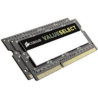 Corsair bærbar PC RAM kit ValueSelect CMSO16GX3M2A1333C9 16 GB 2 x 8 GB DDR3 RAM 1333 MHz CL9 9-9-24