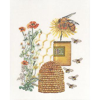 Honey Sampler On Aida Counted Cross Stitch Kit-10.5