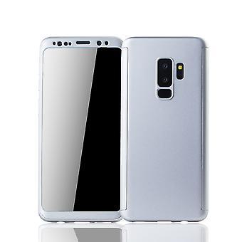 Samsung Galaxy S9 plus mobile shell Schutzcase fuld dækning 360 display beskyttelse folie sølv