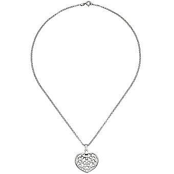С сердца кулон сердце сердце 925 стерлингового серебра 45 см сердца кулон ожерелье