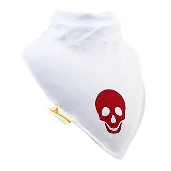 Babero de pañuelo blanco y rojo chrimson cráneo xxl