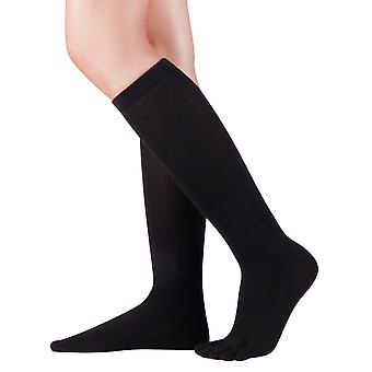 Knitido knee toe socks cotton and Merino, knee socks with toes for men and women up to size 46