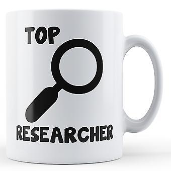 Decorative Writing Top Researcher - Printed Mug
