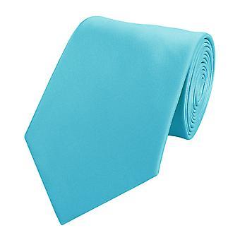 Cravatta cravatta cravatta cravatta 8cm ciano turquoise da Fabio Farini