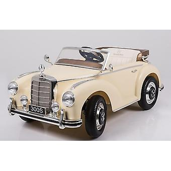 Licensed Mercedes Benz 300S 12V Kids Electric Ride On Car Beige