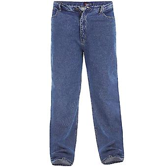 Duke Rockford Mens Big Tall King Size Comfort Fit Stonewash Denim Jeans Trousers