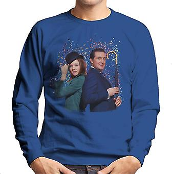 TV Times Avengers Diana Rigg And Patrick Macnee Men's Sweatshirt